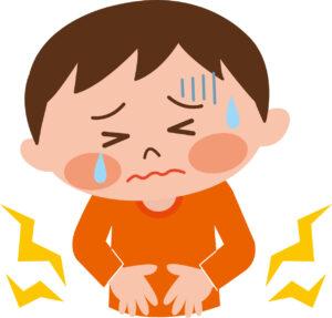 ノロウイルスによる腹痛