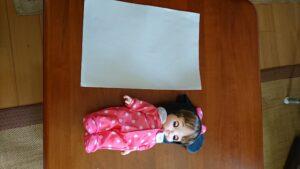 レミンちゃんサイズ A4用紙との比較