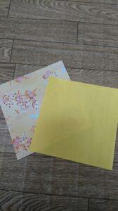 ひな祭りテーブルコーディネート 箸入れに使う折り紙