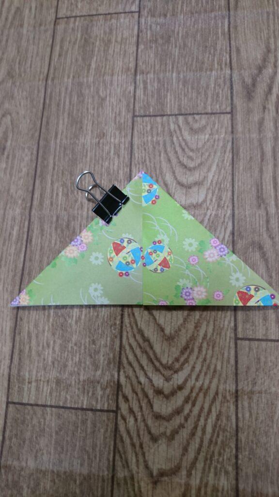 お月見の箱(三方)の折り紙の折り方1