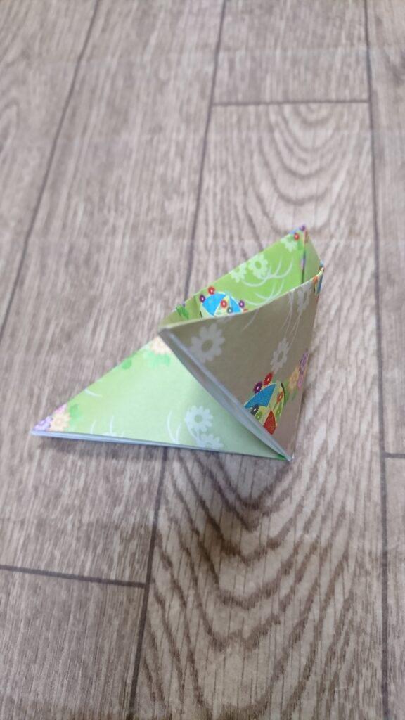 お月見の箱の折り方(三方)