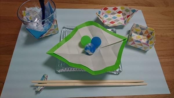 七夕のテーブルコーディネートを子供と♪100均で簡単手作り!