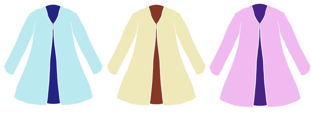 スプリングコートを秋に着れるかどうかのポイント1 色