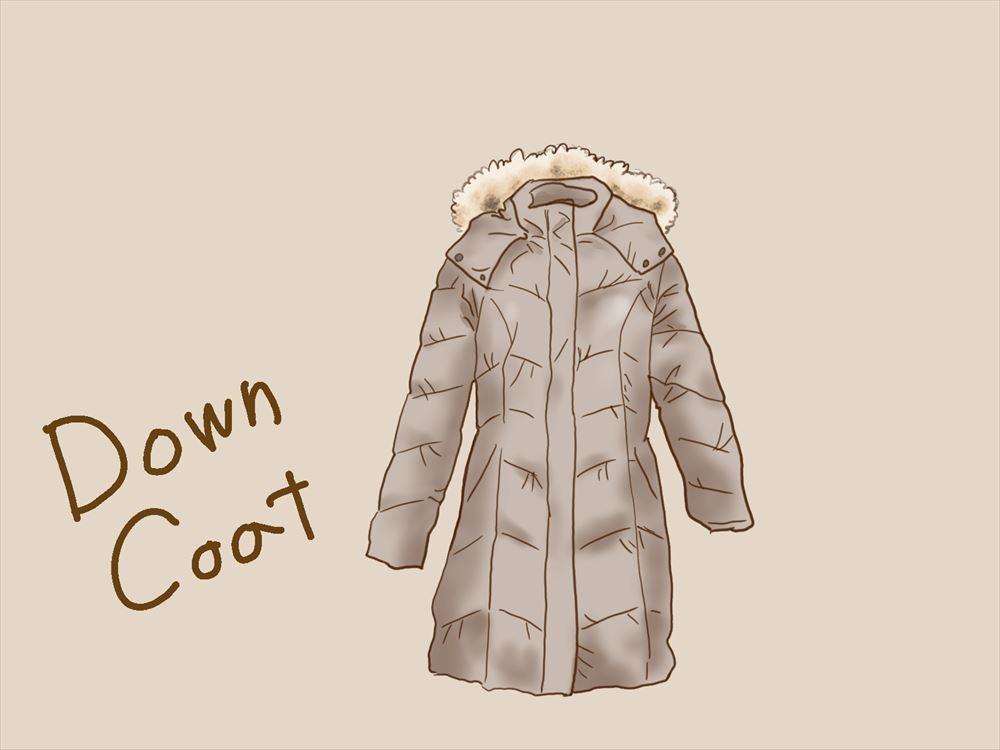 長く着られるコート ダウンコート