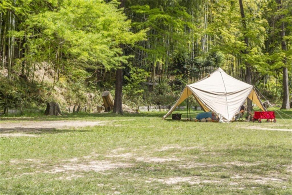 サンシェードテントで宿泊キャンプはできる?