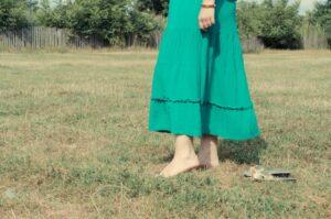 雨の日デート服でNGデザイン3 ロングスカート