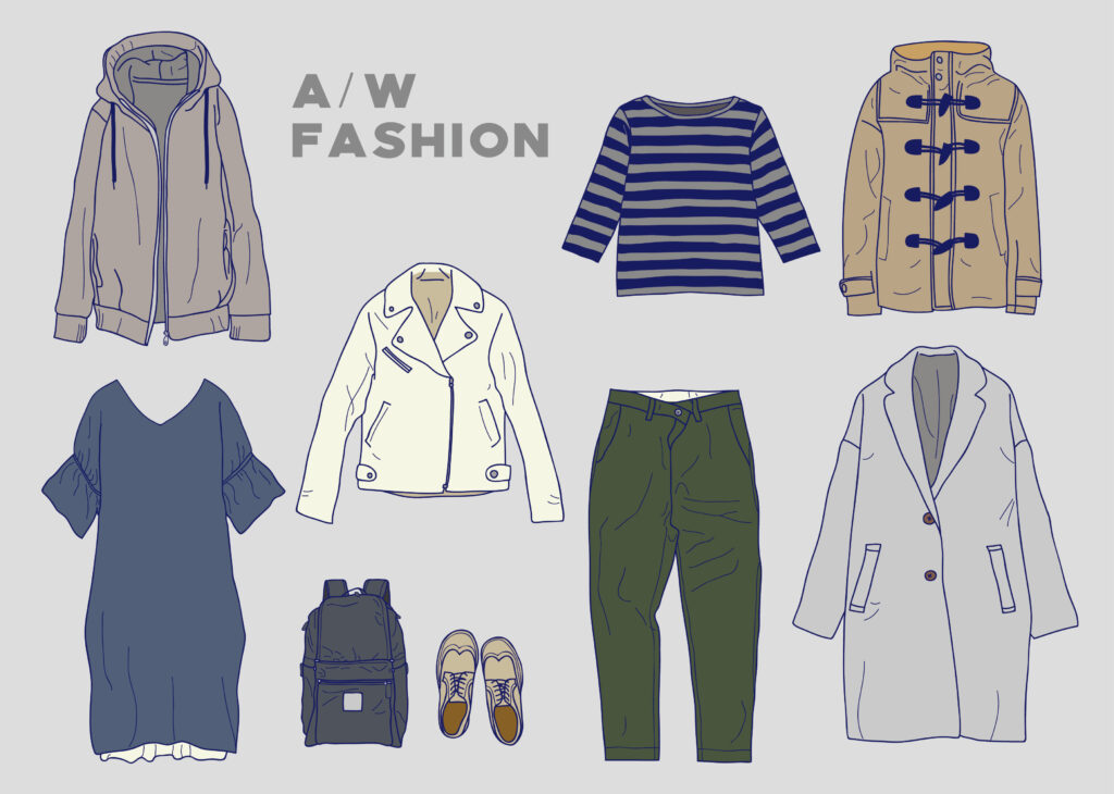 コートの色の選び方ポイント3 手持ちの服に合う色を探す