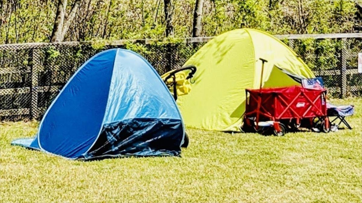 ポップアップテントで宿泊したい時の風雨対策、暑さや冬対策について