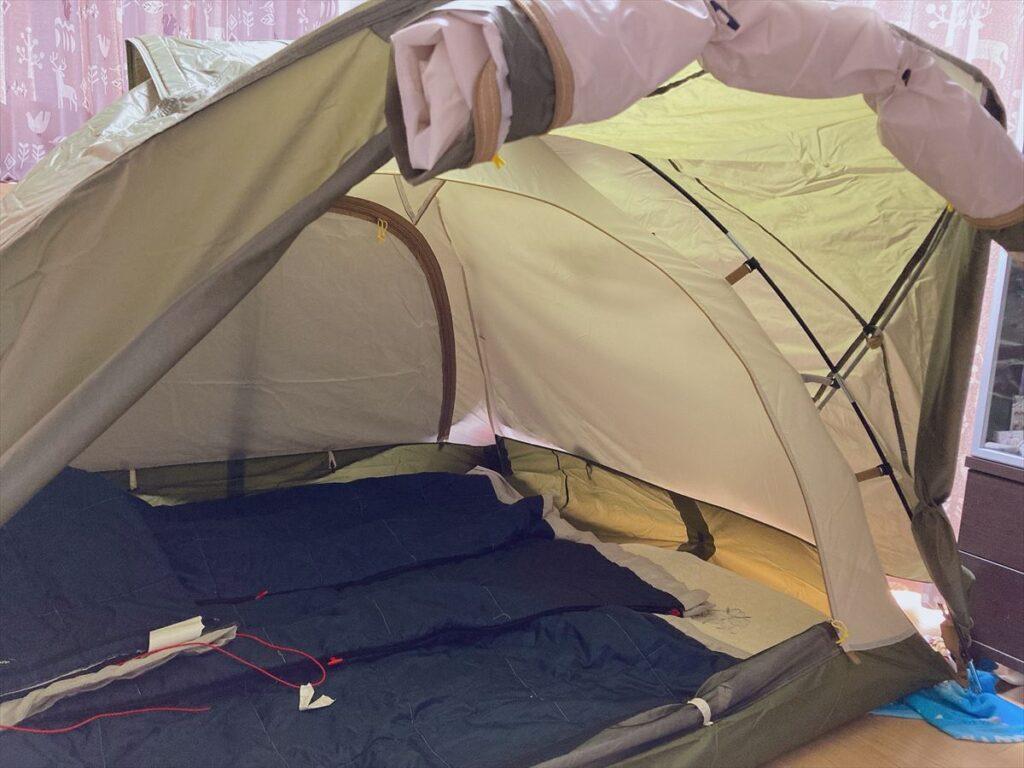 ポップアップテントとテントの違い:フライシートの有無