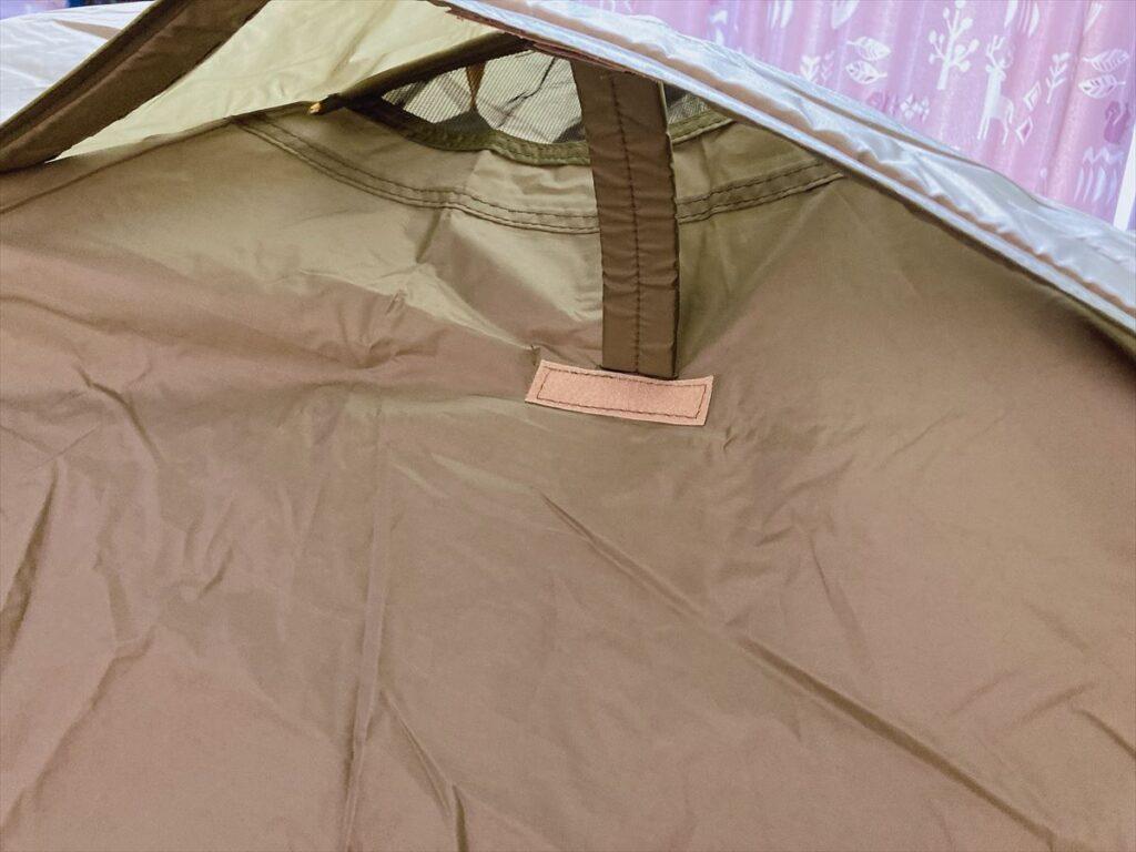 ポップアップテントとテントの違い:テント(ツーリングドームLX)だとベンチレーションがある