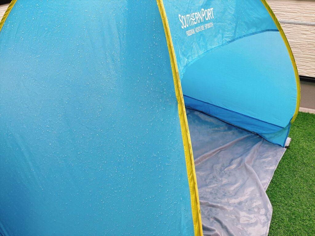 ポップアップテントとテントの違い:激安ポップアップテントは耐水性が低い